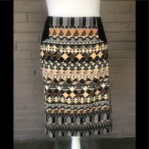 Nic + Zoe Print Pencil Skirt 8